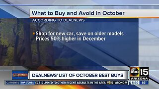 What to buy and avoid in October