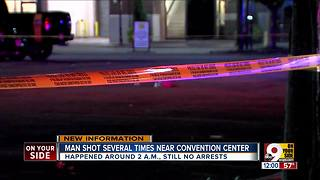 PD: Man shot near convention center overnight - Video