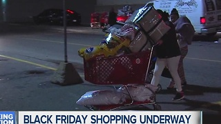 Black Friday Shopping is underway - Video