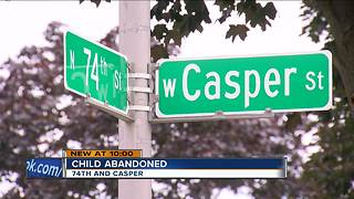 9-month-old child abandoned on north side