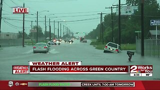 Flash flooding across Green Country