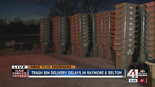 Delivery of new trash bins in Raymore, Belton delayed - Video