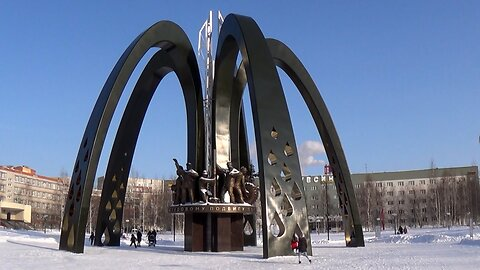 The Great Monument To The Oil Industry Workers In Surgut, Russia