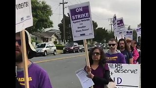 Teachers Strike Over Pay in Union City, California
