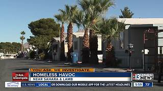 Mobile home park: homeless wreak havoc