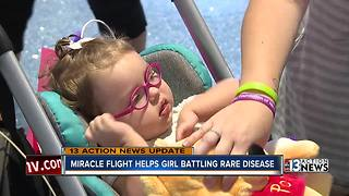 Miracle Flights helping little girl with rare genetic disorder - Video