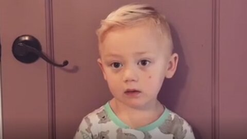 "3-Year-Old's Priceless Response After Mom ""Ate All His Candy"""