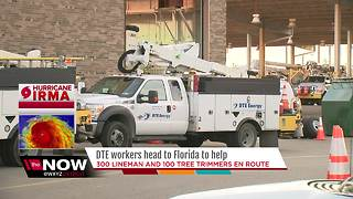 DTE workers headed to Florida to help with Hurricane Irma - Video