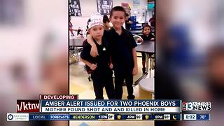 Amber Alert issued for 2 Phoenix boys