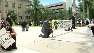 Palm Beach County public defenders hold rally to honor George Floyd