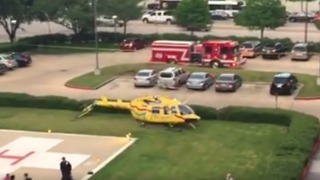 Helicopter Makes Hard Landing at Houston Hospital - Video