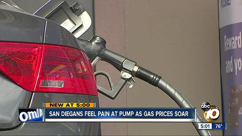 San Diegans feel the pain at the pump as gas prices soar