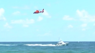 Search for boater overboard off of Lake Worth Inlet - Video