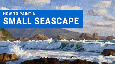 How to paint a SMALL SEASCAPE