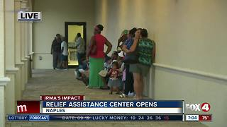 Relief assistance center opens in Naples - Video
