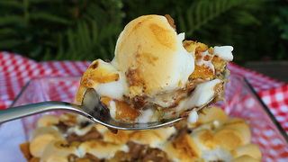 0815BBQ Grilled Banana S'mores Crumble - Video