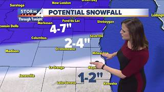 Snow comes to an end Wednesday morning - Video