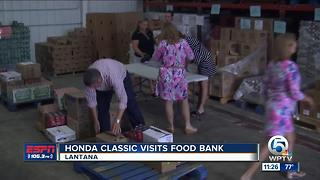 Honda Classic Visits Food Bank - Video