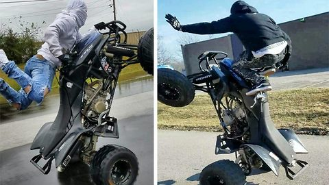 Strong quads – Biker pulls off impressive stunts