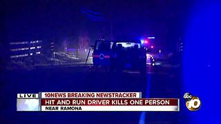 Hit-and-run driver kills one person