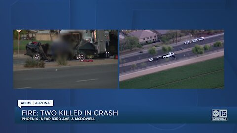 Two people killed in crash involving tow truck near 83rd Ave and McDowell
