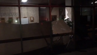 Tornado Damages Library at Jacksonville State University
