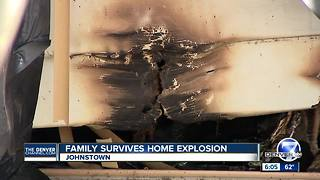Johnstown family loses home after mysterious overnight explosion - Video