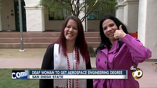 First deaf woman to get Aerospace Engineering degree - Video