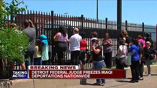 Detroit federal judge orders national freeze on Iraqi deportations - Video