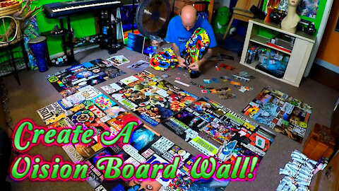 Create A Vision Board Wall that you can Wake Up To Every Morning!