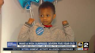 Make-a-Wish grants Severn boy with trip to Wrestlemania - Video