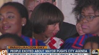 People in Baltimore excited about Mayor Catherine Pugh's agenda - Video