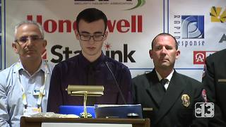 Noah Meyer's winning essay about his father, a North Las Vegas firefighter - Video