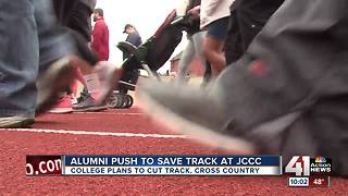 JCCC alumni push to keep track program at rally - Video