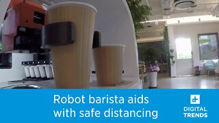 This robot barista is aiding with social distancing