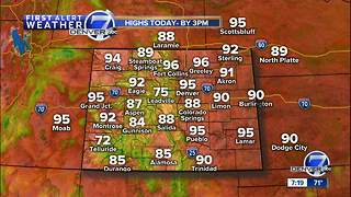 Warm for Saturday in Denver, rain-cooler on Sunday - Video