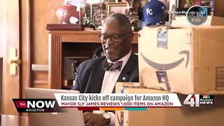 Kansas City Mayor Sly James throws puns in battle for new Amazon headquarters - Video