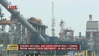 Strong gas odor in metro Detroit coming from Marathon refinery, officials say