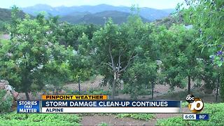 Storm damage clean-up continues - Video