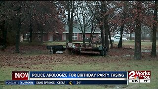 Police apologize for birthday party tasing