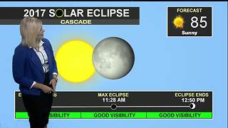 Forecast looking sunny and clear for the Eclipse - Video