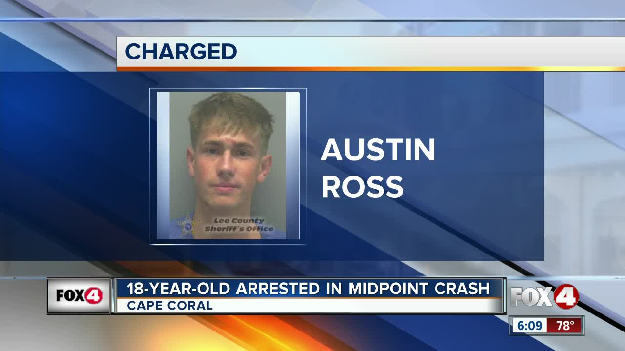 18-year-old charged with DUI after serious crash in Cape Coral