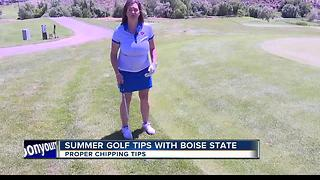 BSU Summer Golf Tips Chipping with Nicole Bird - Video