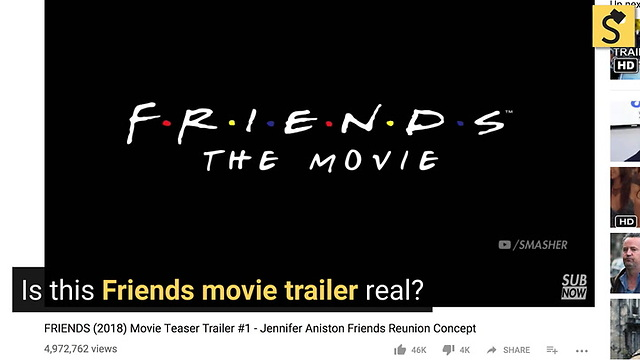 FACT CHECK: Is This 'Friends' Movie Trailer Real?