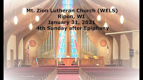 Mt. Zion Lutheran Church Ripon, WI 1-31-21