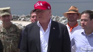 PRESIDENT DONALD TRUMP VISITS LAKE OKEECHOBEE IN FLORIDA
