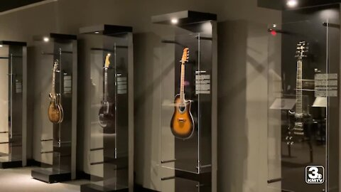 Largest playable guitar in the world on display at Durham Museum exhibit