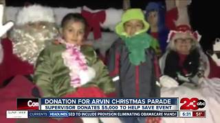 Donation made to save Arvin Christmas parade - Video
