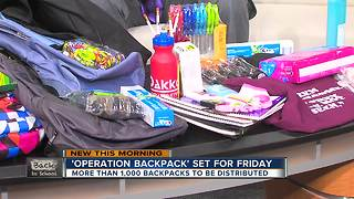 Operation Backpack before Detroit students go back to school - Video