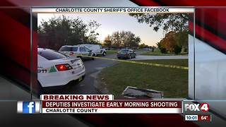 Deputies Investigate Early Morning Shooting - Video